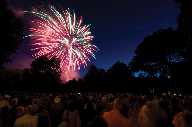 fourth of july fireworks at caramoor