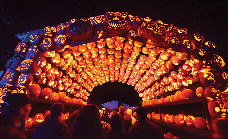 tunnel of pumpkin love at great jack o lantern blaze