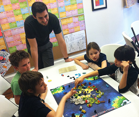 kids playing game at brooklyn game lab