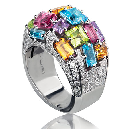 Canturi Cubism domed ring