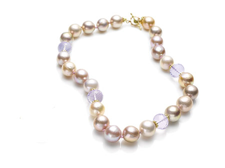 Jane Bohan yellow-and-rose gold necklace