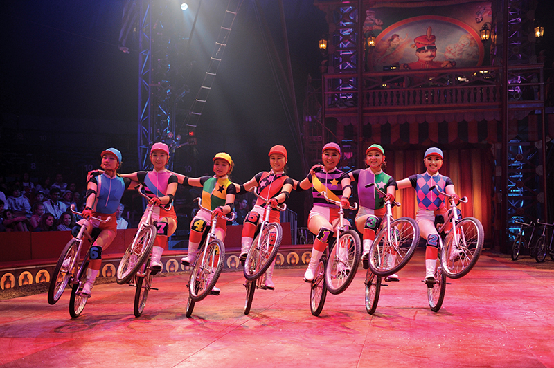 big apple circus bike riders