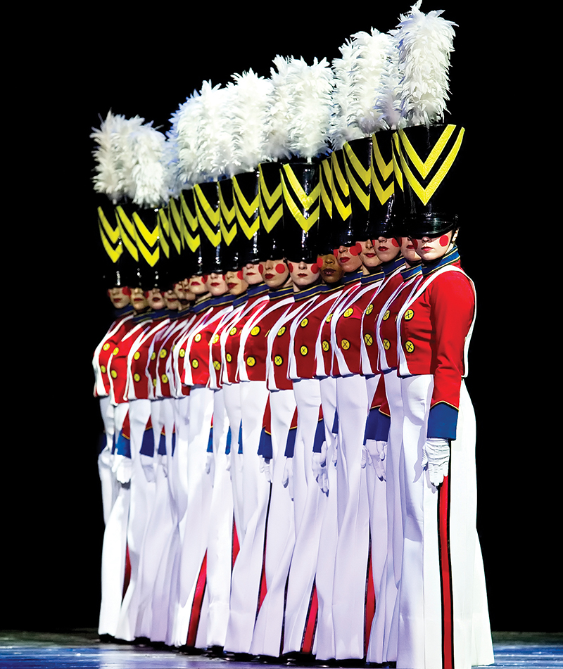rockettes as wooden toy soldiers