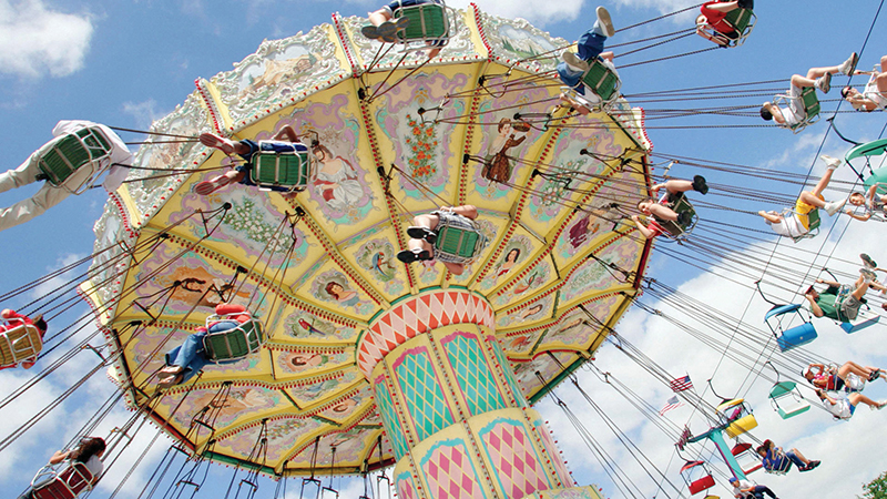 Swings ride at the fair for Floyd county arts and crafts festival