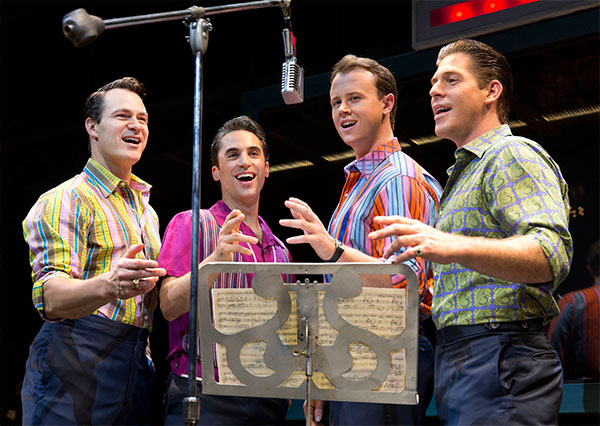 The cast of Jersey Boys on Broadway