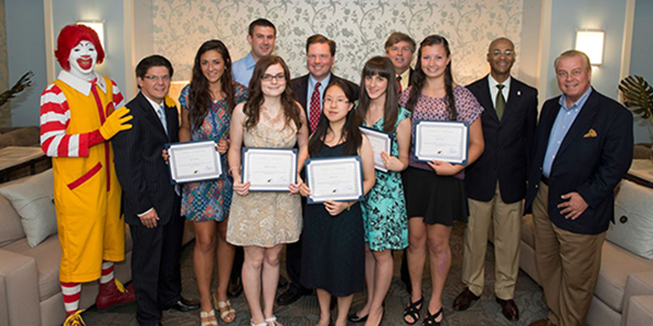 Ronald McDonald House Charities® New York Tri-State Area General Scholarship Honorees