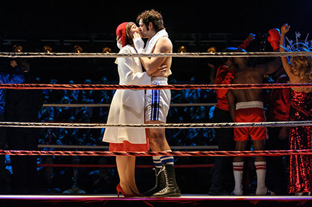 Andy Karl and Margo Seibert in Rocky on Broadway