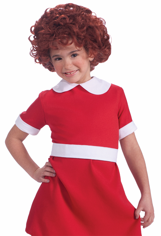 girl dressed as annie