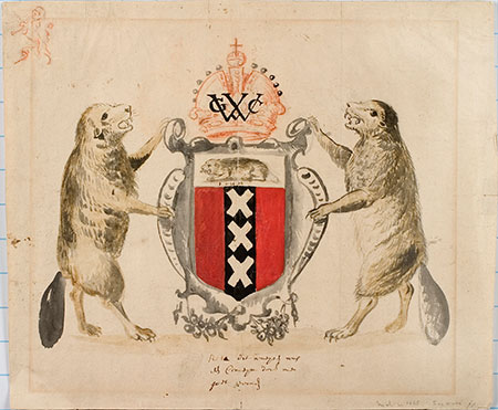 Proposed Coat of Arms for New Amsterdam, ca. 1630