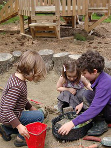 kids playing in sandbox