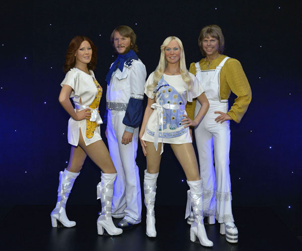 ABBA wax figures at Madame Tussauds NYC