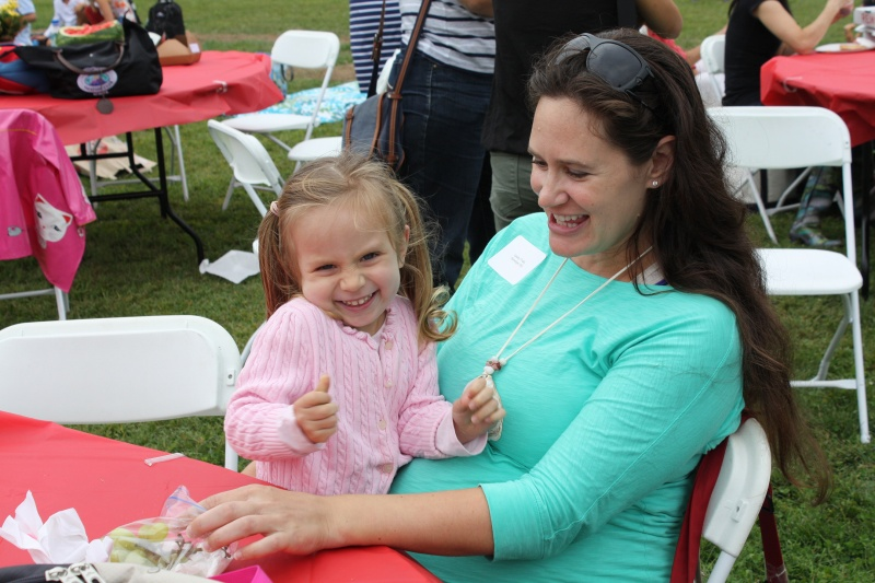 mother and daughter at playbright event