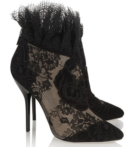 Jimmy Choo Kamaris suede-and-lace ankle boot
