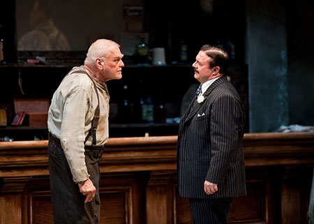 Brian Dennehy and Nathan Lane in The Iceman Cometh on Broadway