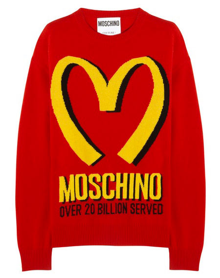 Moschino fast food cashmere sweater