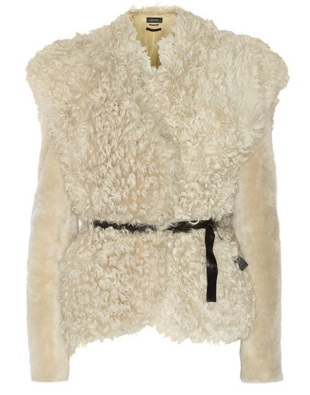 Isabel Marant belted curly shearling jacket