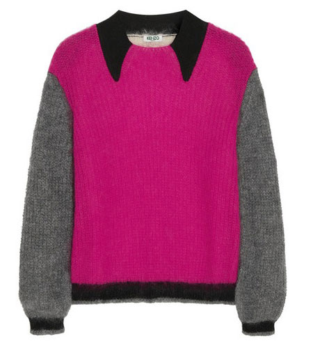 Kenzo mohair-blend sweater with trompe l'oeil collar
