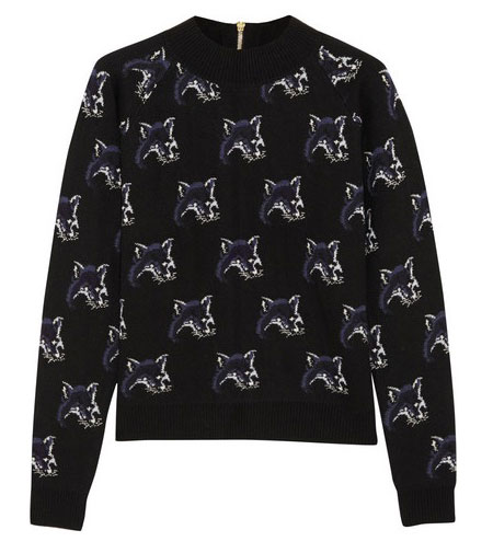 Maison Kitsune wool-silk-and-cashmere sweater